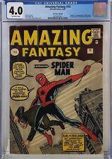 AMAZING FANTASY #15 CGC 4.0 UK PRICE VARIANT 1ST SPIDER-MAN HTF! BEAUTIFUL COLOR