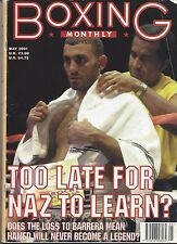 PRINCE NASEEN HAMED BOXING MONTHLY MAY 2001 MAGAZINE NO LABEL CREASE TOP RIGHT