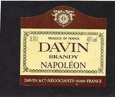 COGNAC VIEILLE ETIQUETTE DAVIN BRANDY NAPOLEON     §05/02/17§