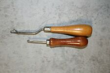 Antique Vintage Bernat Yarns latch hook from England and Rug hooking tool
