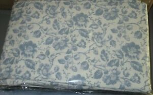 Ralph Lauren 100% Cotton 2 STANDARD Pillowcases Floral Blue NEW NWOP