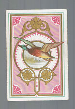 Playing  Cards 1 ANTIQUE  SQ  CRN  WILD DUCK IN FLIGHT GOLD DETAIL AWESOME SQ13