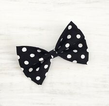 Black & White Polka Dot ROCKABILLY Pin Up Hair Bow clip