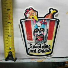 WEIRDO MONSTER STICKER CAPTAIN SPAULDING FRIED CHICKEN PARODY HORROR SCHERES