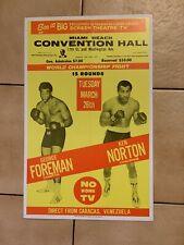 Original 1974 George Foreman Vs. Ken Norton Vintage Boxing Poster Nice Condition