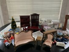 Miniature Dollhouse Lot - Furniture, People, Wallpaper and Accessories - 1:12