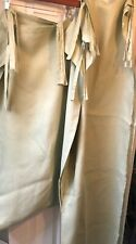 """Set Of 2 Pottery Barn Celery Green Linen Sheer Panels Curtains Drapes 54x84"""" tie"""