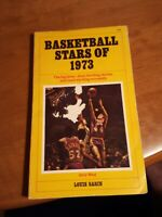 BASKETBALL STARS OF 1973 by Louis Sabin vintage 1972  paperback sports history