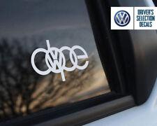 Volkswagen Dope Euro Style window sticker decal