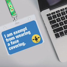 Face Covering Mask Exemption PVC Card Hidden Disabilities Lanyard Id Card Holder