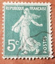 GM9 POSTES FRANCE 5C USED STAMP