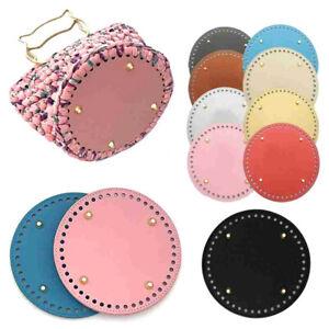 Round Leather Bottom Crochet Bag Making Bottom Mat Cushion Purse Pad Bottom _yk