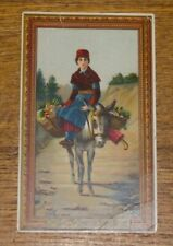 Antique Trade Card - Domestic Sewing Machine - HW Techmeyer - Harrisburg PA