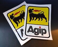 2 x Agip Stickers Race & Rally Car Stickers. 130mm x 90mm.