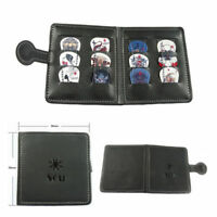 Soft Leather Guitar Pick Holder Plectrum Case Bag Wallet Design + 12 Free Picks