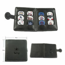 Soft Leather Guitar Pick Holder Plectrum Case Bag Wallet Design + 12 Free Picks
