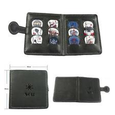 Soft Leather Guitar Picks Holder Plectrum Case Bag Wallet Design + 12 Free Picks