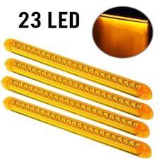 "4x17"" 23LED Amber Stop Turn Signal Park Tail Clearance Marker Sealed Brake Light"