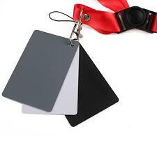 DSLR Digital Strap 18% Grey Gray Cards White Black White Exposure Balance Card