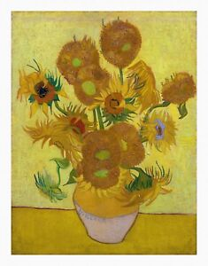 VAN GOGH Sunflowers UNSTRECHED UNFRAMED CANVAS