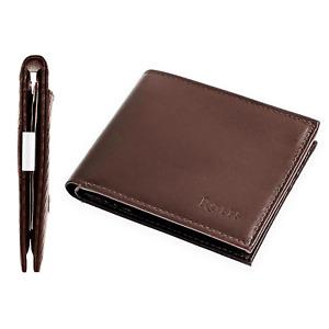 Rolfs Men's Wallet Premium Leather with Card Holder Bifold Dark Brown Wallets