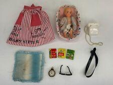 Vintage Barbie Baby-Sits! #953 Incomplete Set Apron Baby In Bassinette Phone Etc