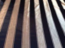 10m Black And Gold Stripe Interiors Fabric, Free P+P