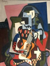 Pablo Picasso, Harlequin Musician 1924, Hand Signed Lithograph