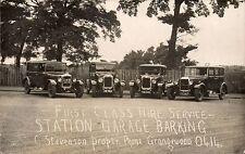 Barking. Station Garage First Class Motor Car Hire Service. C.Stevenson.