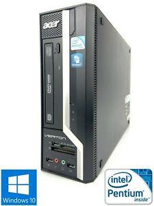 Acer Veriton X275 - 250GB HDD, Intel Pentium E5800, 4GB RAM - Win 10 Pro