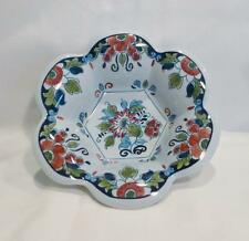 """Royal Goedewaagen Delft Polychrome Hand Painted Scalloped Edge 5 1/2"""" Candy Dish"""