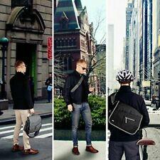 Qipi Messenger Bag - Pocket Rich Satchel Shoulder Bag  (Business Black) New