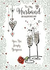 For My HUSBAND ~ Simply Gorgeous - LARGE Quality VALENTINE'S Day Card Valentines
