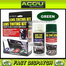 E-Tech Car Glass Plastic Rear Tail Lamp Light Lens GREEN Tinting Tint Spray Kit