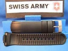 Swiss Army Watch Band ST5000 Man's Black Resin Strap / Watchband w/Pins