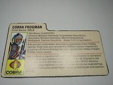 Gi Joe - 1985 Cobra Eels file card - Gijoe