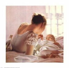 MOTHER & CHILD ART PRINT - Love Light by Peter Quidley Baby Nursery Poster 24x24