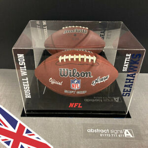 NFL American Football Acrylic Display CASE   UK Manufacturer