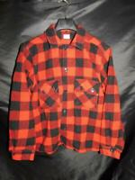 Vintage Minnesota Woolen M Red Black Buffalo Plaid Jacket Wool Coat Mens Button