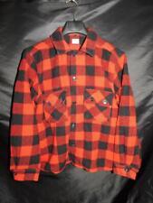 Vintage Minnesota Woolen M Red Black Buffalo Plaid Jacket Wool Coat Mens Button