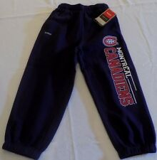 Montreal Canadiens Sweatpants Toddler Size 7 Reebok Faceoff Collection NHL