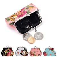 Women Coin Purse Flower Printing Ladies  Pocket Coin Pouch Key Credi<w