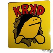 "KROOKED ""Shmoo Ripper"" Skateboard Snowboard Sticker 11cm YELLOW Gonz Gonzalez"