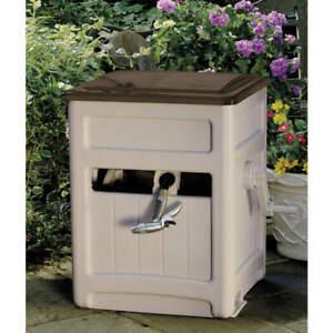 SUNCAST STB200B Garden Hose Reel,Cabinet,15 in,Resin