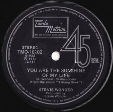 Stevie Wonder ORIG OZ 45 You are the sunshine of my life EX '72 Motown Soul