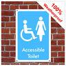 Frei Zugänglich Toilette Symbol Hinweisschild INF04 Langlebig und Wetterfest