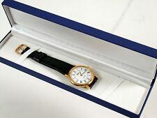 Leica pulsera-reloj Watch Gold-plated mecánico funcionan new condition impecable