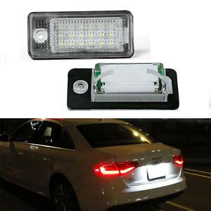 For Audi Q7 A4 S4 B6 B7 A3 S3 8P A6 C6 A8 A5 Xenon White LED License Plate Light