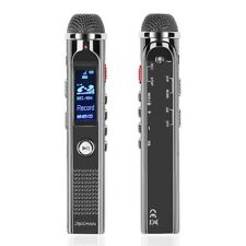 Digital Voice Recorder w/ Voice Activated Stereo Hi-Fi Directional Mic (8GB)