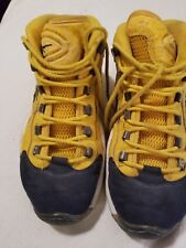 Classic All Star Reebok Question Iverson Shoe Blue/Yellow  Size 10 Preowned
